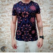 Camiseta Starpolis Black Neon Flowers