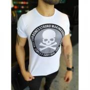 Camiseta Starpolis Branca Caveira Perigo