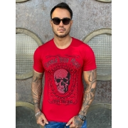 Camiseta Starpolis Vermelho Caveira