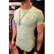 Camiseta Totanka Verde Claro Tecido Ribana