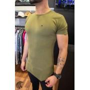 Camiseta Totanka Verde Musgo Tecido Ribana