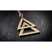 Colar  Double Triangle Dourado