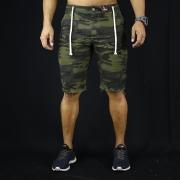 Short Jeans Masculino Caunt Camuflado Destroyed