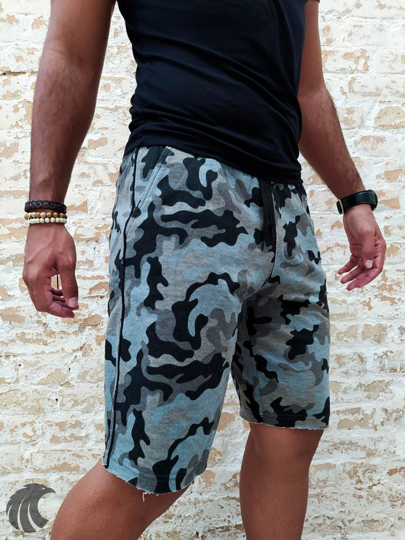 Shorts Moletom Federal Art Camuflaged  - Harpia Moda - Moda Masculina & Acessórios