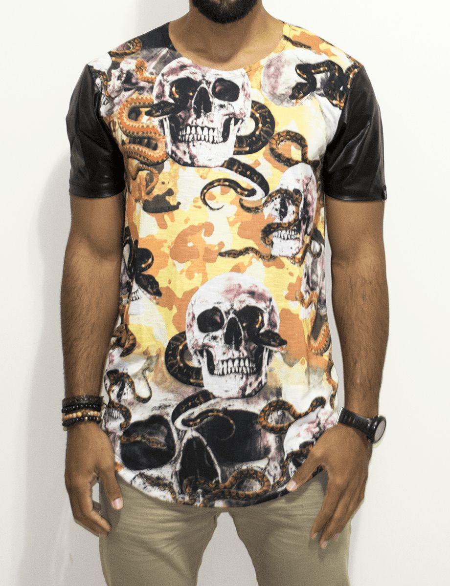 Camisetas Long Line - Harpia Moda - Moda Masculina   Acessórios  aa6d9145911