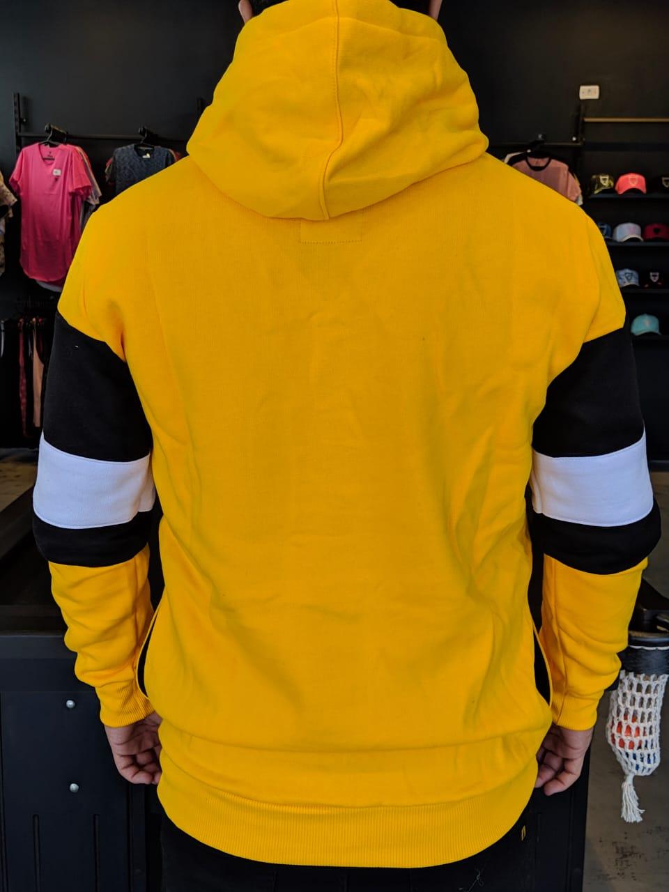 Blusa Moletom Kawippi Amarela Faixa  - Harpia Moda - Moda Masculina & Acessórios