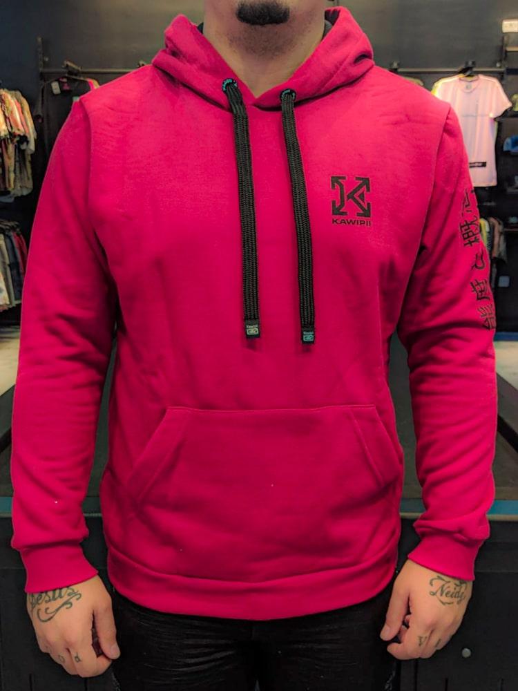 Blusa Moletom Kawippi Vermelha Detalhe Costas  - Harpia Moda - Moda Masculina & Acessórios