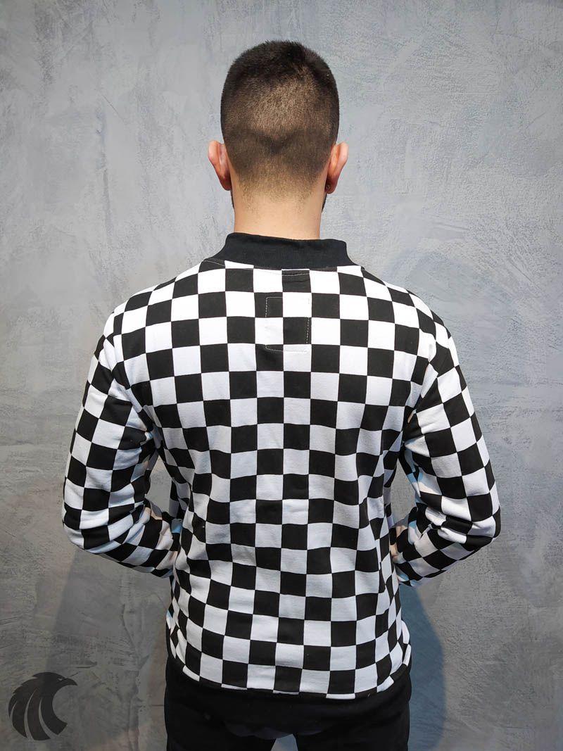 Blusa Moletom Kawippi Xadrex Branca  - Harpia Moda - Moda Masculina & Acessórios