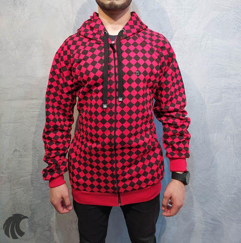 Blusa Moletom Kawippi Xadrex Vermelha  - Harpia Moda - Moda Masculina & Acessórios