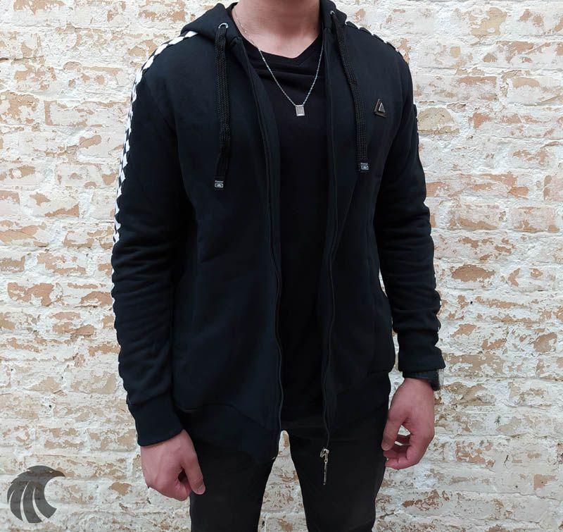 Blusa Moletom Kawippi Xadrex Preta  - Harpia Moda - Moda Masculina & Acessórios