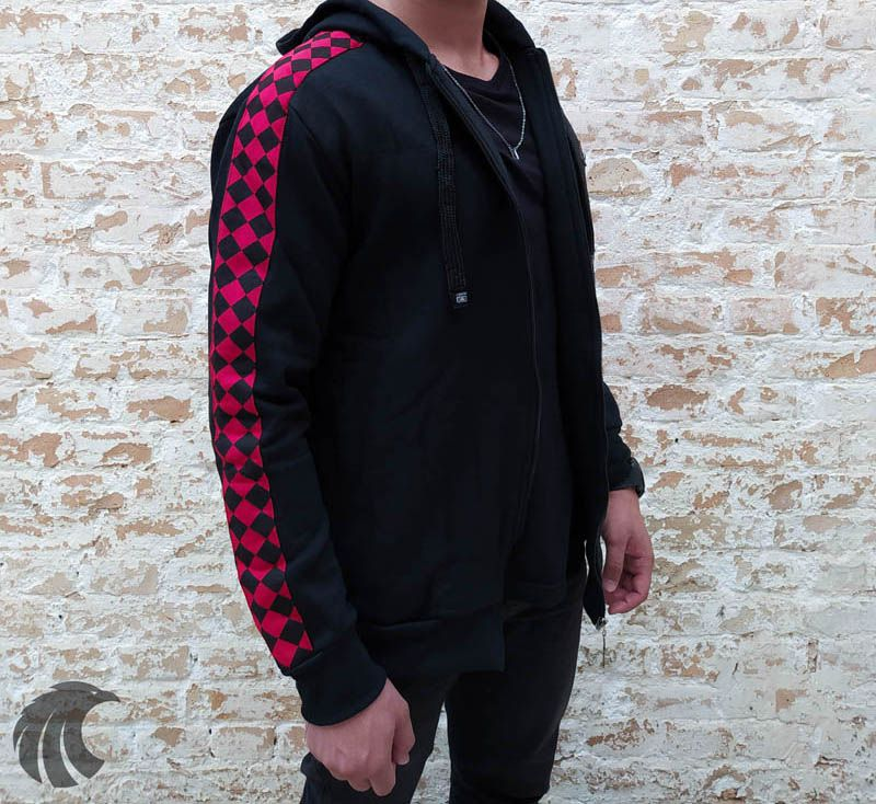 Blusa Moletom Kawippi Xadrex Red Preta  - Harpia Moda - Moda Masculina & Acessórios
