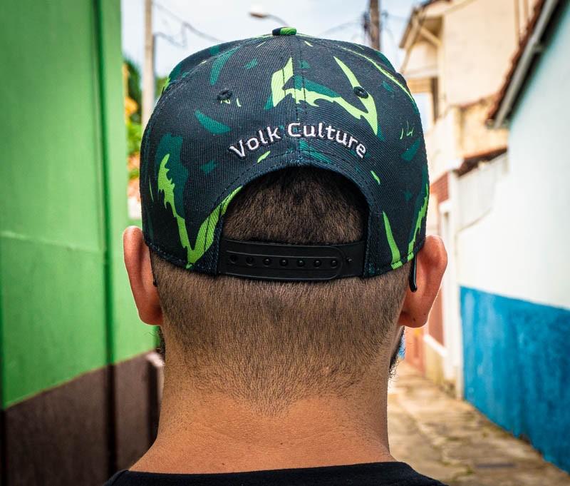 Boné Volk Culture Camuflado Aba Curva Verde  - Harpia Moda - Moda Masculina & Acessórios