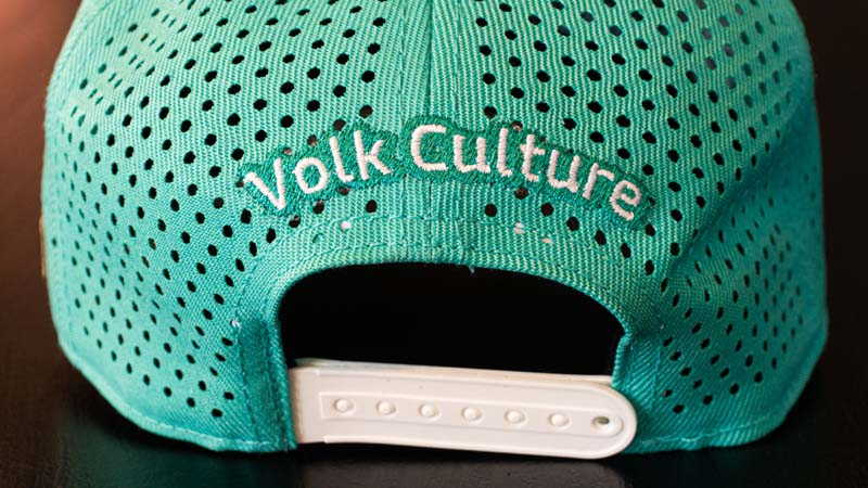 Boné Volk Culture Flat Aba Curva Turquesa  - Harpia Moda - Moda Masculina & Acessórios