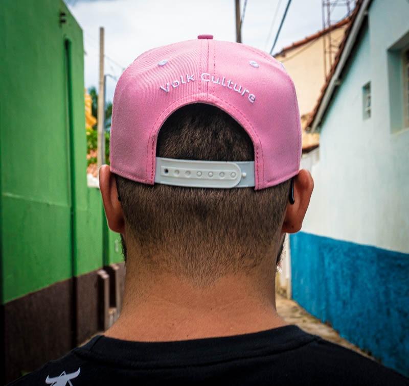 Boné Volk Culture Rasgado Aba Curva Rosa  - Harpia Moda - Moda Masculina & Acessórios