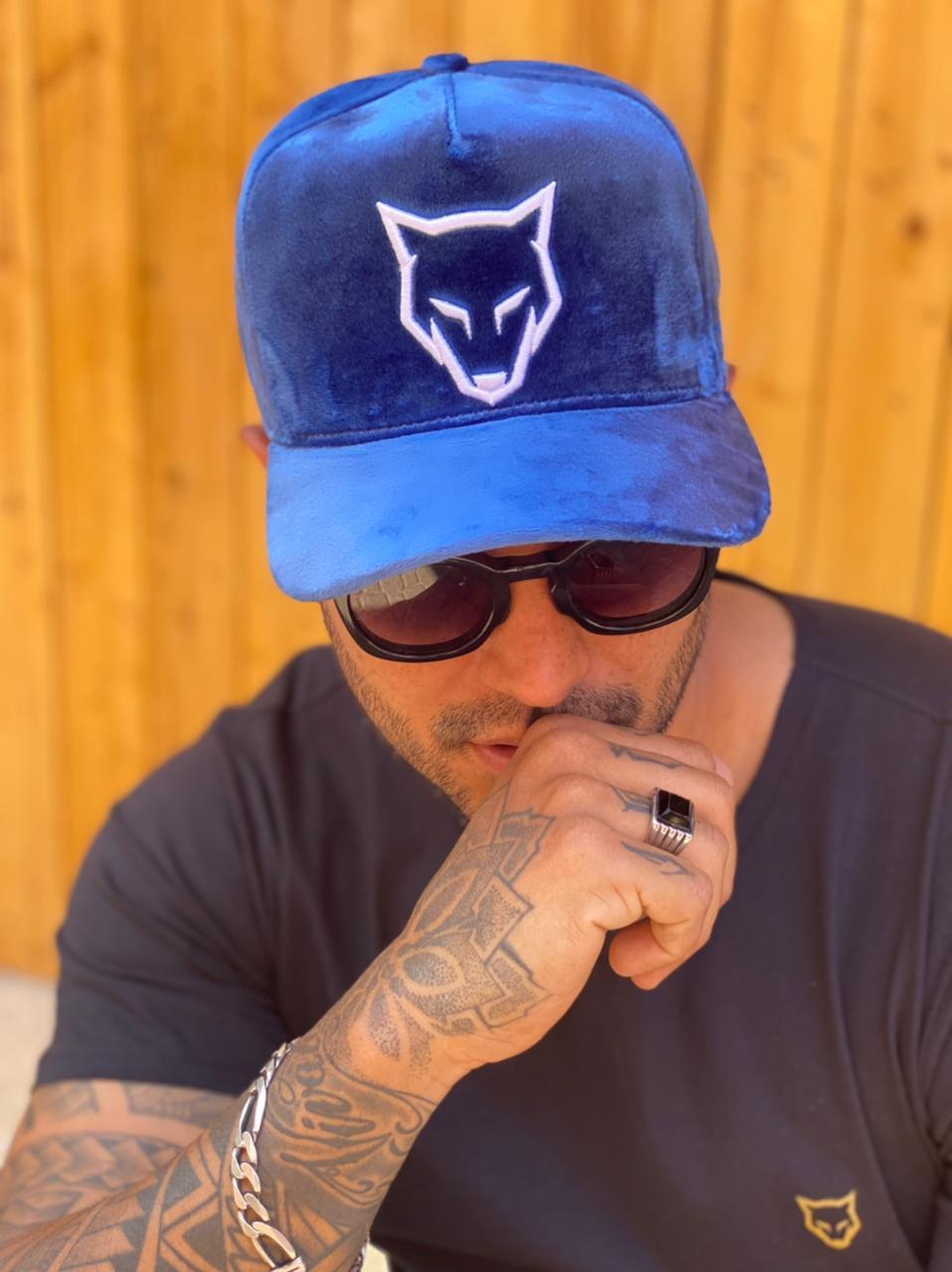 Boné Volk Culture Suede Aba Curva Azul  - Harpia Moda - Moda Masculina & Acessórios