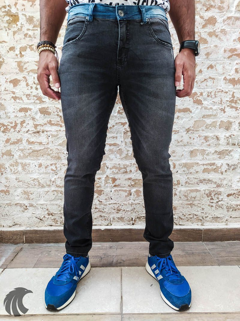 Calça Austin Skinny Black Two  - Harpia Moda - Moda Masculina & Acessórios