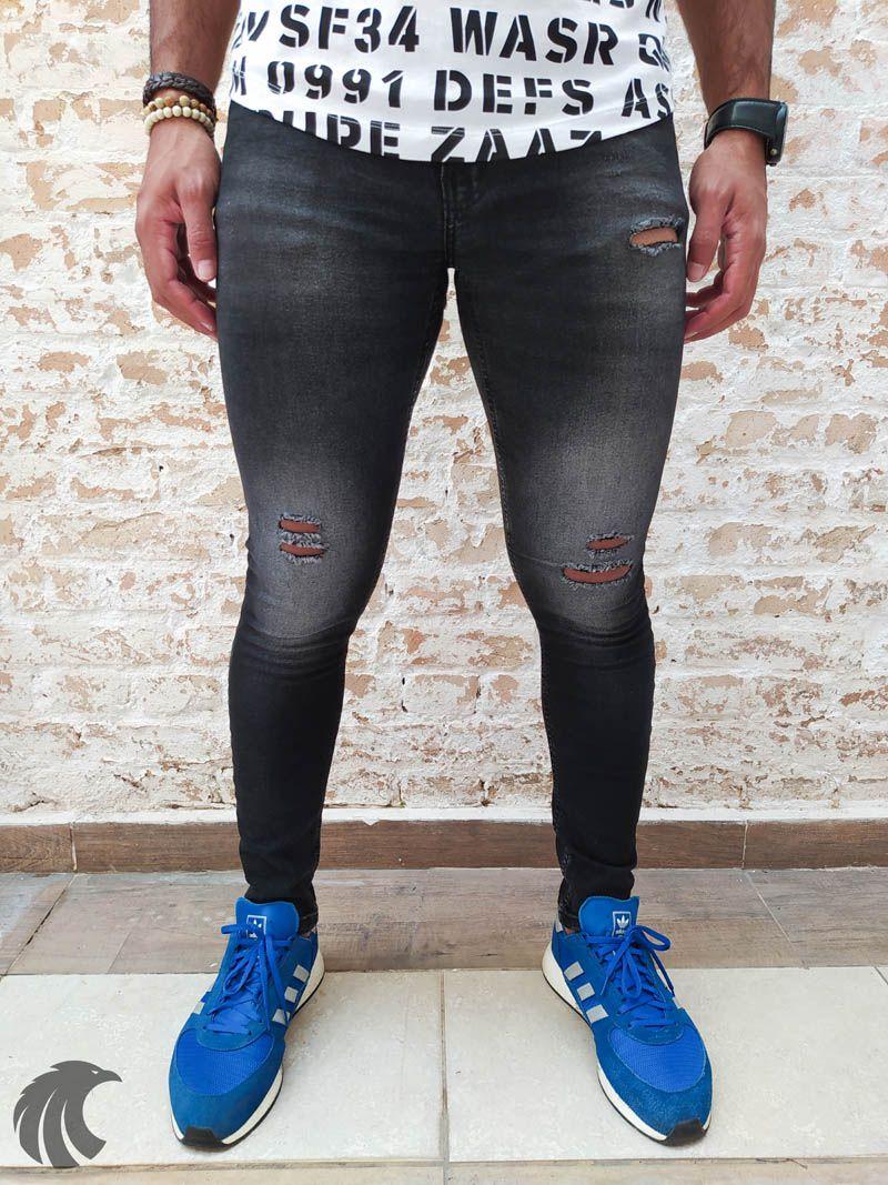 Calça Austin Skinny Black Four  - Harpia Moda - Moda Masculina & Acessórios