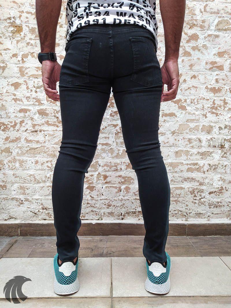 Calça Austin Skinny Black Line  - Harpia Moda - Moda Masculina & Acessórios