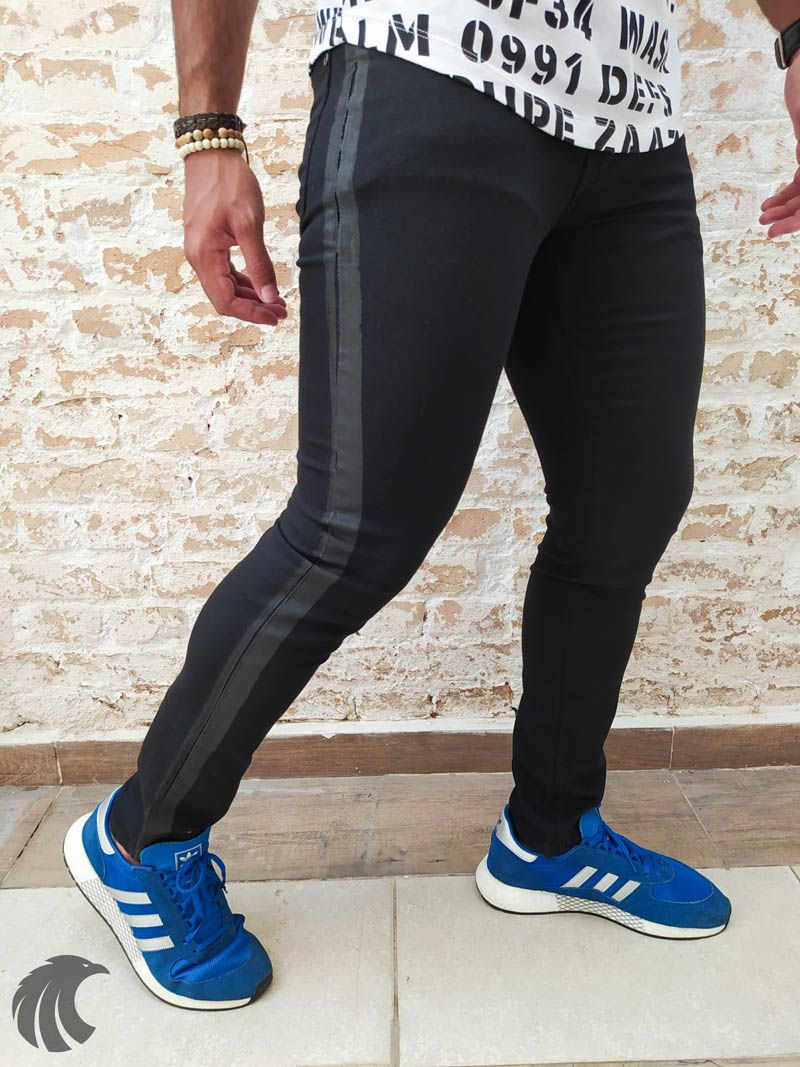 Calça Austin Skinny Black Line Two  - Harpia Moda - Moda Masculina & Acessórios