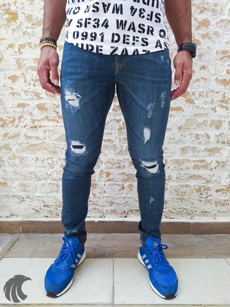 Calça Austin Skinny Blue Two  - Harpia Moda - Moda Masculina & Acessórios