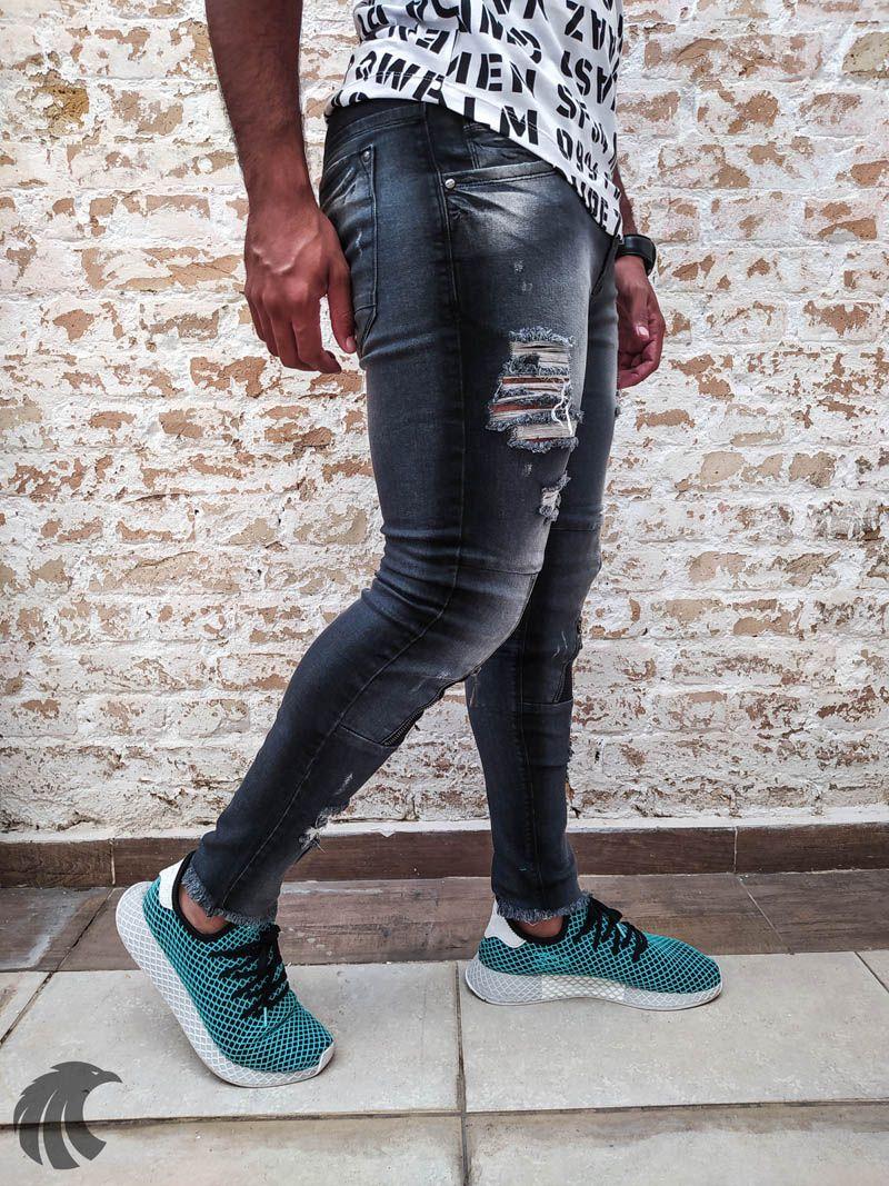 Calça Masculina Codi Skinny Destroyed Detail  - Harpia Moda - Moda Masculina & Acessórios