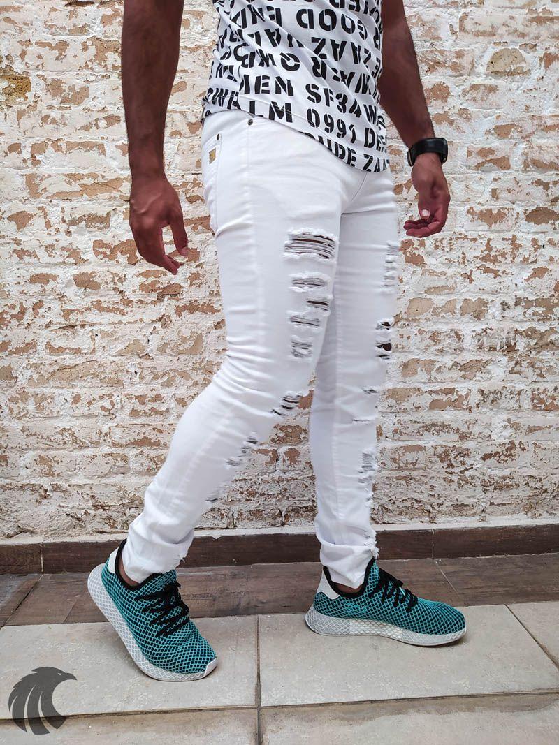 Calça Austin Skinny White Deluxe  - Harpia Moda - Moda Masculina & Acessórios