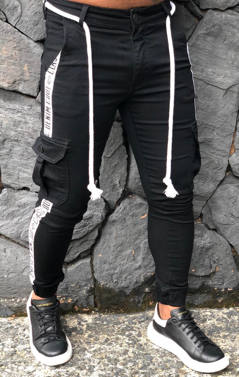 Calça Codi Jogger Preta Preta Jeans  - Harpia Moda - Moda Masculina & Acessórios