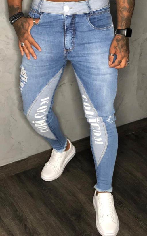 Calça Codi Skinny Azul Jeans Detalhe Faixa  - Harpia Moda - Moda Masculina & Acessórios