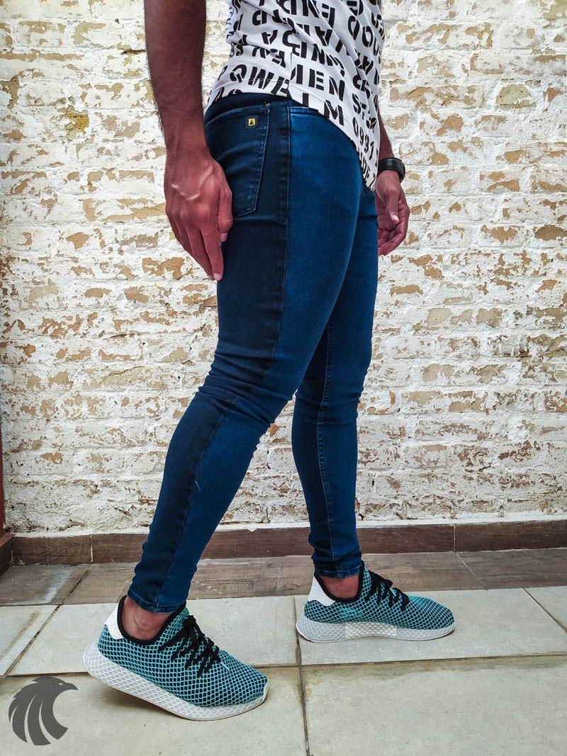 Calça Austin Skinny Blue Duo  - Harpia Moda - Moda Masculina & Acessórios