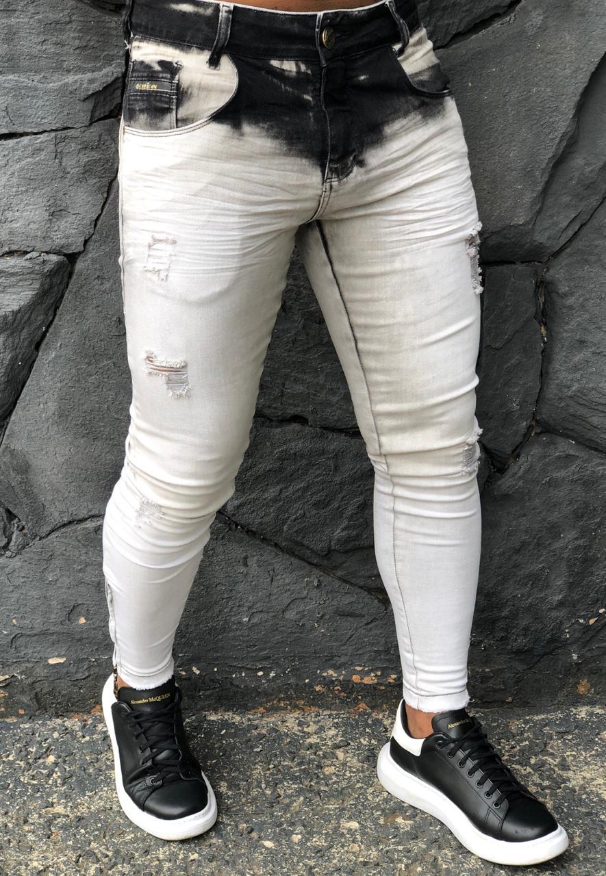 Calça Masculina Codi Skinny Cinza Dark Style  - Harpia Moda - Moda Masculina & Acessórios