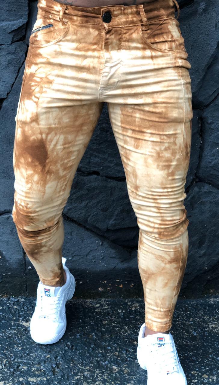Calça Masculina Codi Skinny Marrom Prime  - Harpia Moda - Moda Masculina & Acessórios