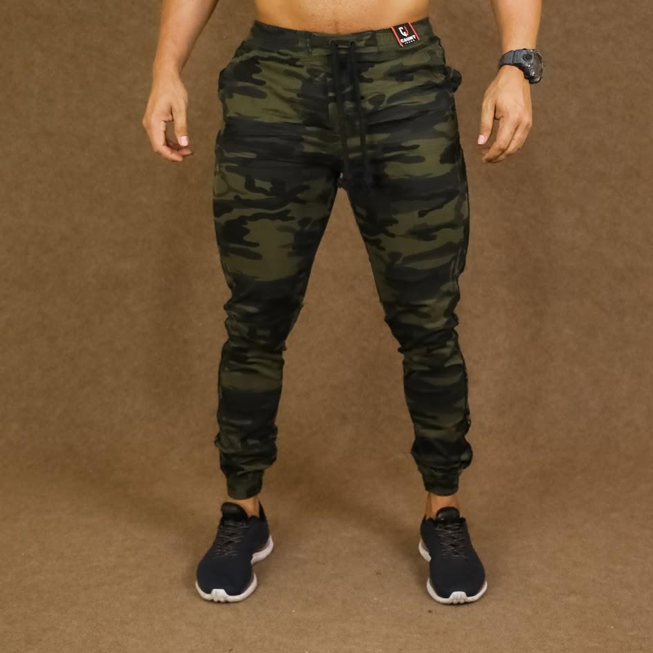 Calça Jeans Jogger Masculino Caunt Camuflado  - Harpia Moda - Moda Masculina & Acessórios
