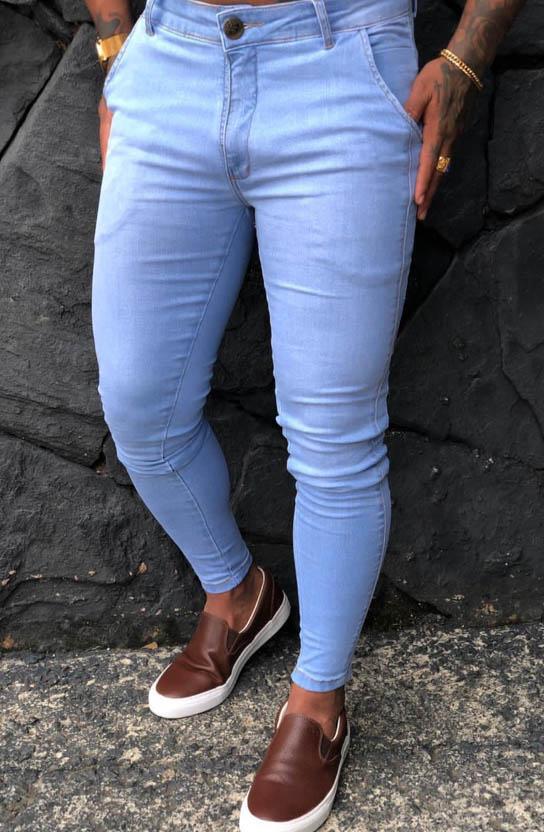Calça Masculina Codi Skinny Azul Claro  - Harpia Moda - Moda Masculina & Acessórios