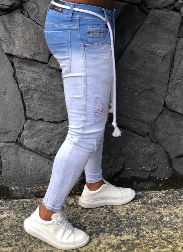 Calça Masculina Codi Skinny Azul Degrade  - Harpia Moda - Moda Masculina & Acessórios