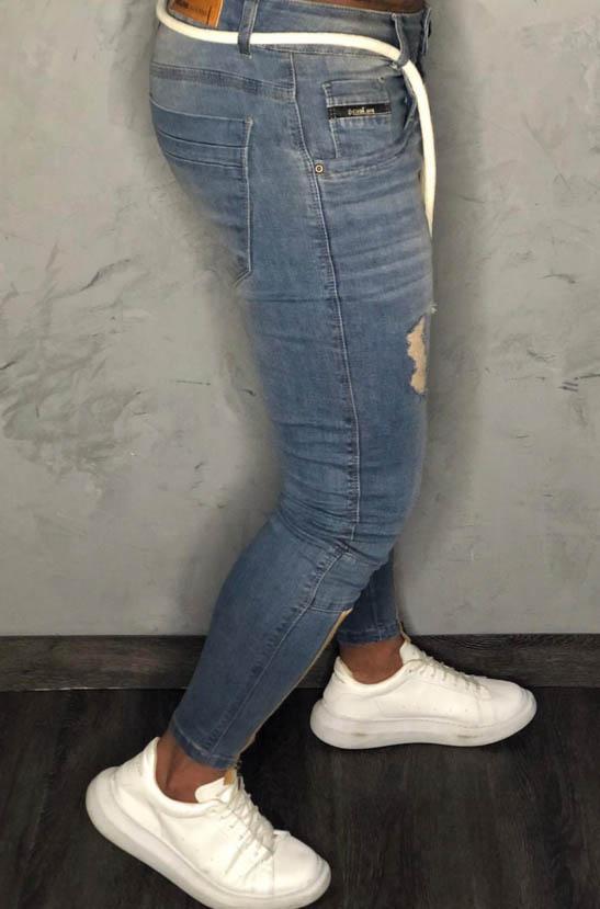 Calça Masculina Codi Skinny Azul Detalhe Ziper Barra  - Harpia Moda - Moda Masculina & Acessórios