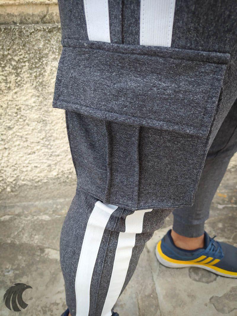 Calça Moletom Kawippi Cinza Two Lines  - Harpia Moda - Moda Masculina & Acessórios