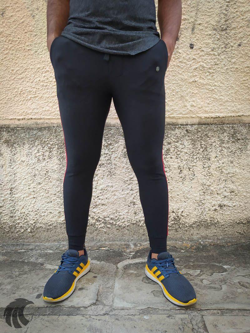 Calça Moletom Kawippi Preta Red Line  - Harpia Moda - Moda Masculina & Acessórios