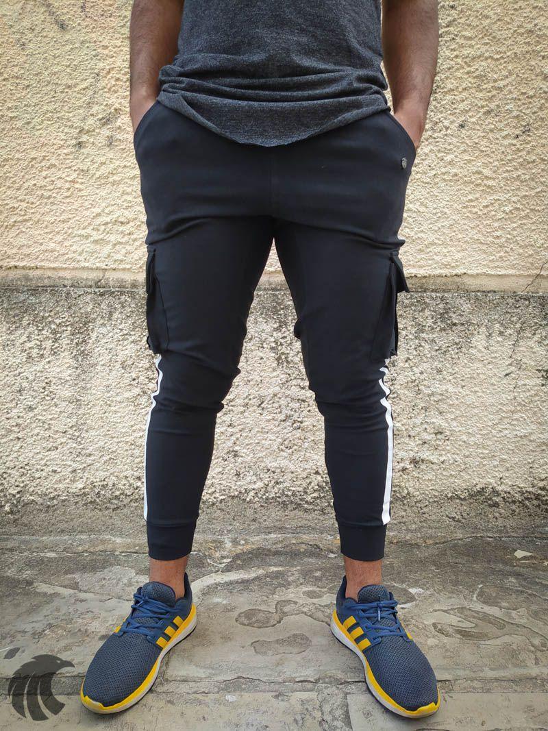 Calça Moletom Kawippi Preta Two Lines  - Harpia Moda - Moda Masculina & Acessórios