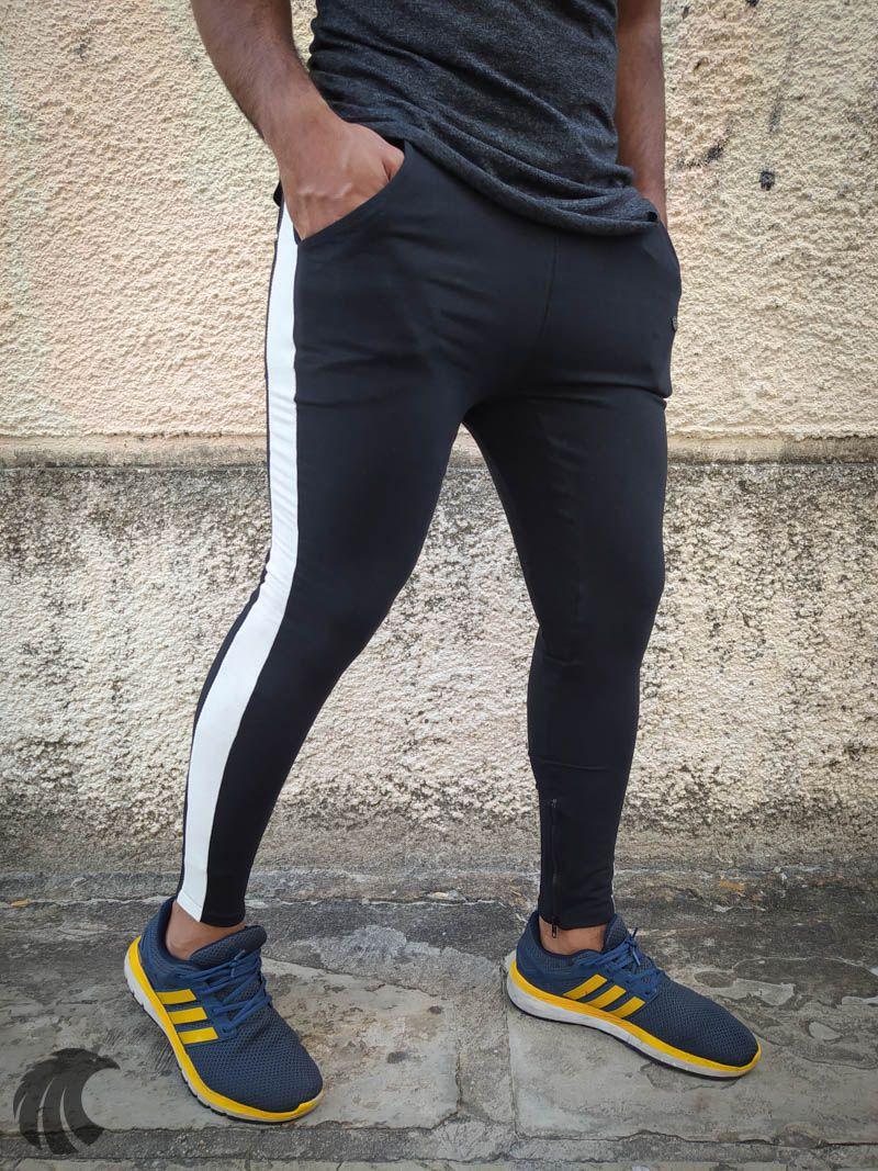 Calça Moletom Kawippi Preta White Line One  - Harpia Moda - Moda Masculina & Acessórios