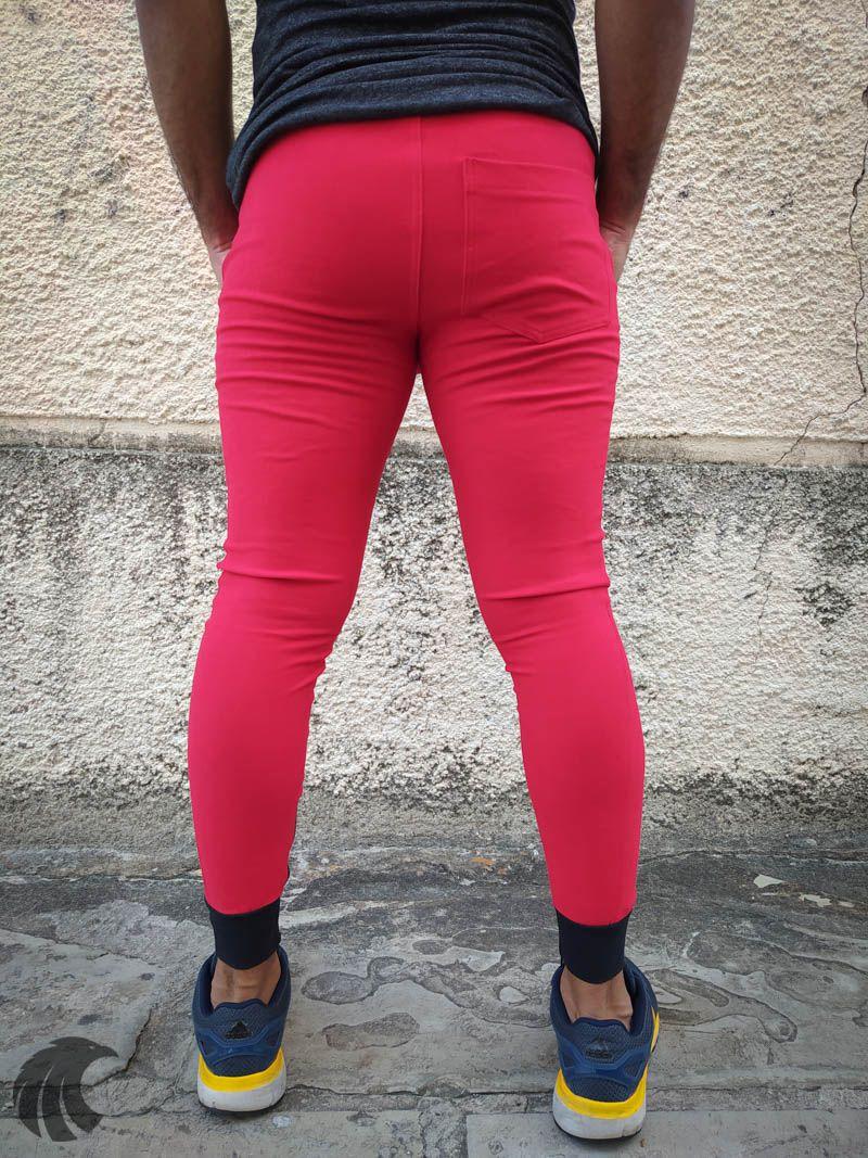 Calça Moletom Kawippi Vermelha Black Bands  - Harpia Moda - Moda Masculina & Acessórios