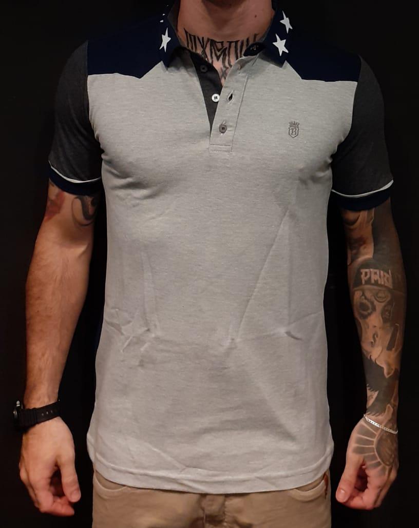 Camisa Black West Polo Grey Star  - Harpia Moda - Moda Masculina & Acessórios