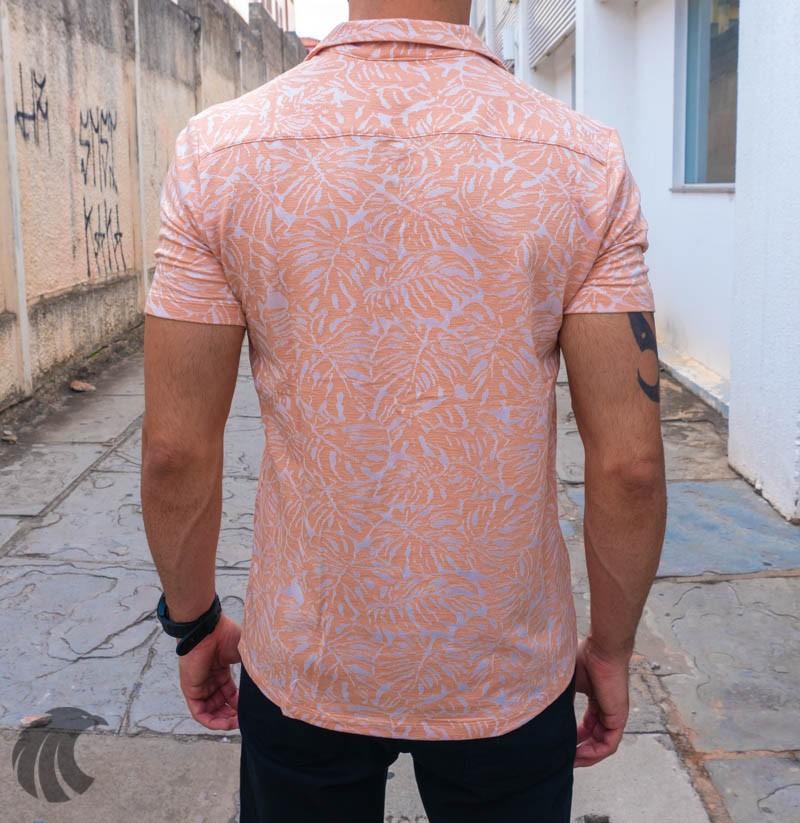 Camisa de Botão Starpolis Rose Folhagem  - Harpia Moda - Moda Masculina & Acessórios