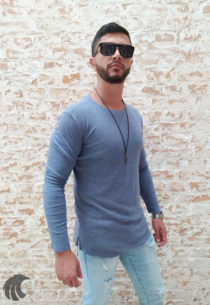 Camisa Manga Longa M Artt Azul Claro  - Harpia Moda - Moda Masculina & Acessórios