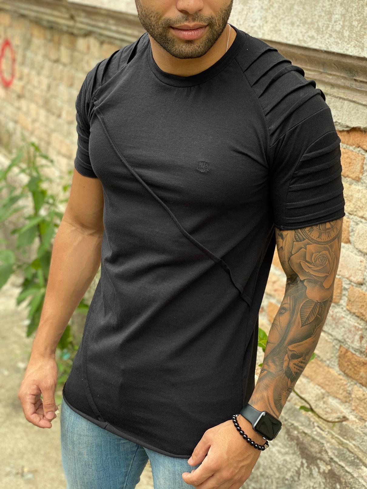 Camisa Manga Longa M Artt Cinza Detalhe Frente  - Harpia Moda - Moda Masculina & Acessórios