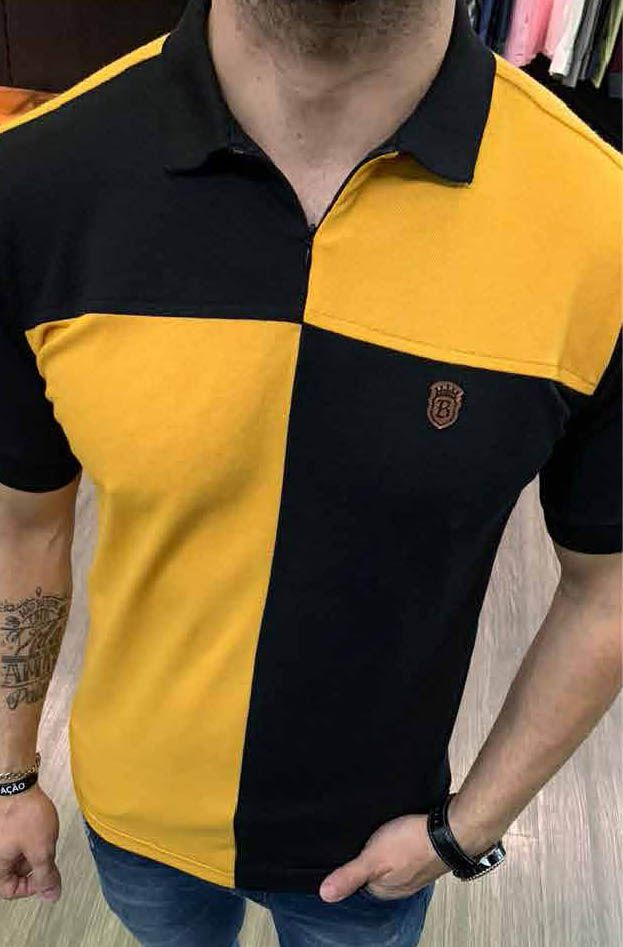 Camisa Polo Black West Evollet Mostarda  - Harpia Moda - Moda Masculina & Acessórios