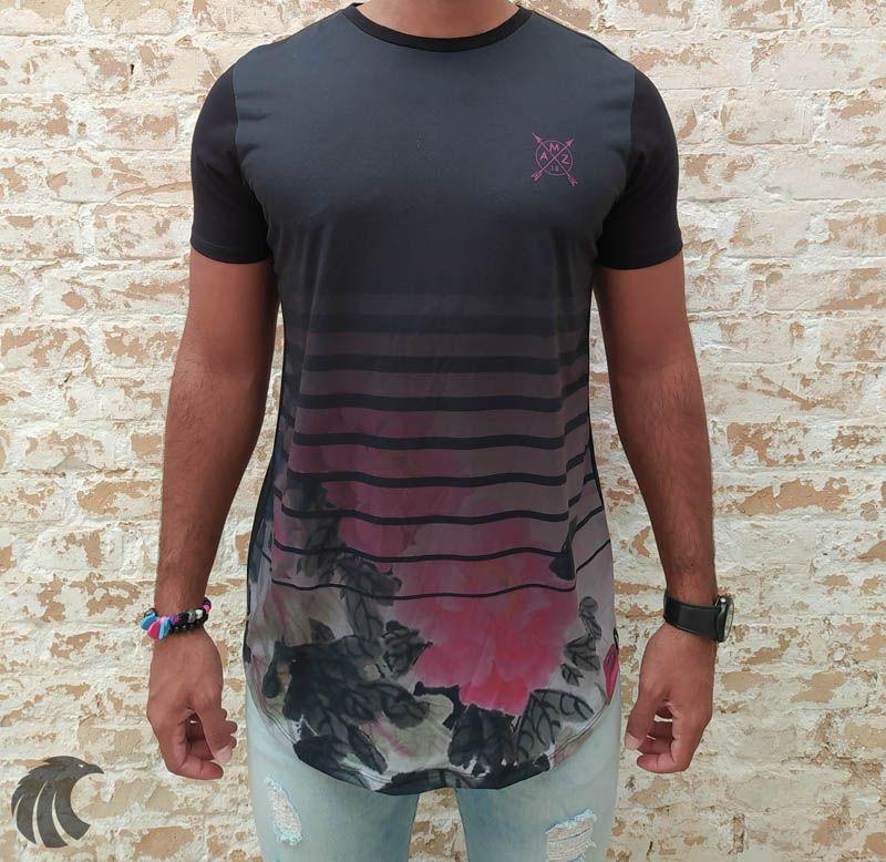 Camiseta Amazing Black Horizontal Lines  - Harpia Moda - Moda Masculina & Acessórios