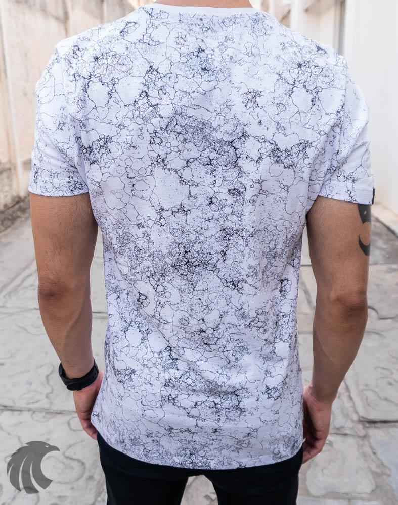Camiseta Austin Club Branca Raios  - Harpia Moda - Moda Masculina & Acessórios