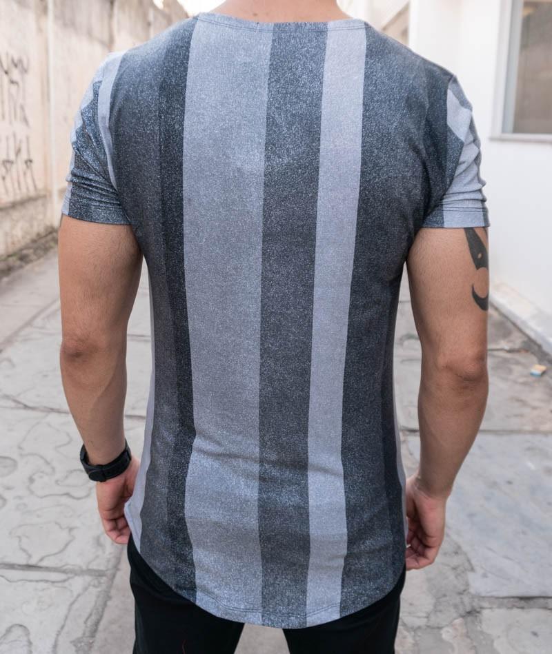 Camiseta Austin Club Cinza Faixas  - Harpia Moda - Moda Masculina & Acessórios
