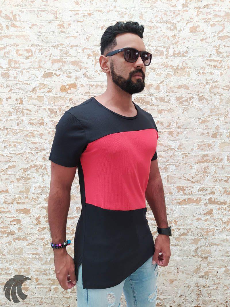 Camiseta Austin Club Red Stripe   - Harpia Moda - Moda Masculina & Acessórios