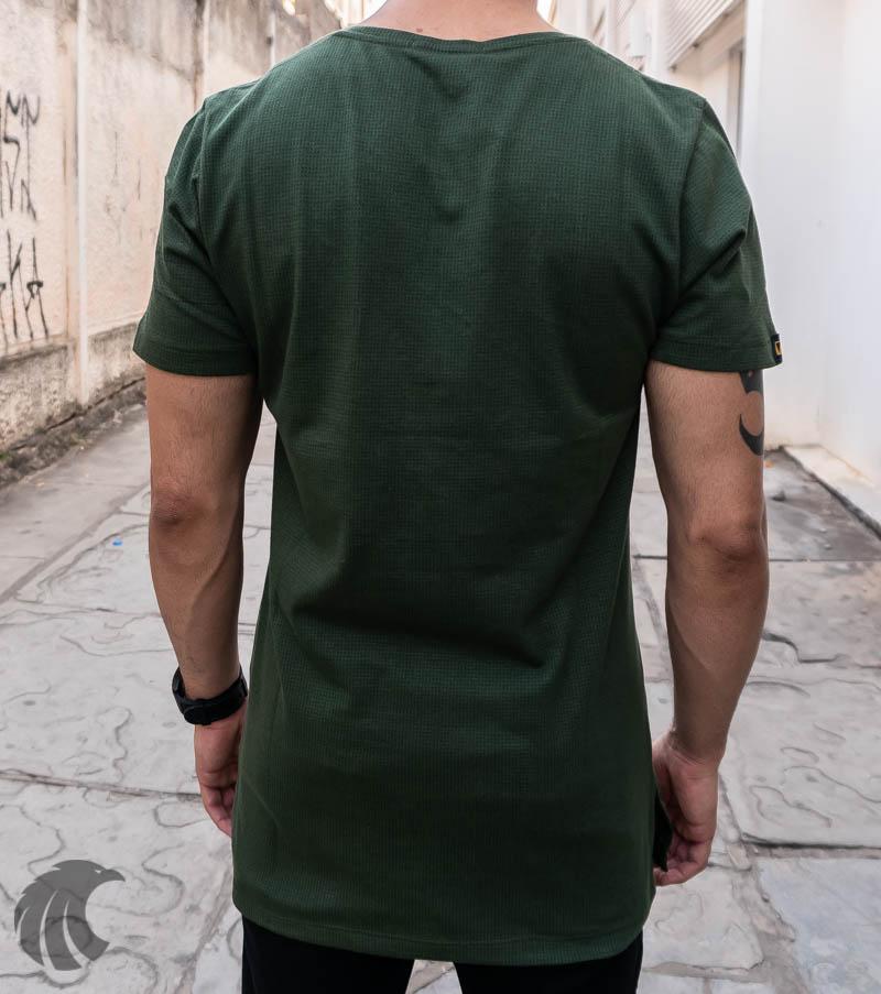 Camiseta Austin Club Verde Desenho Lateral   - Harpia Moda - Moda Masculina & Acessórios